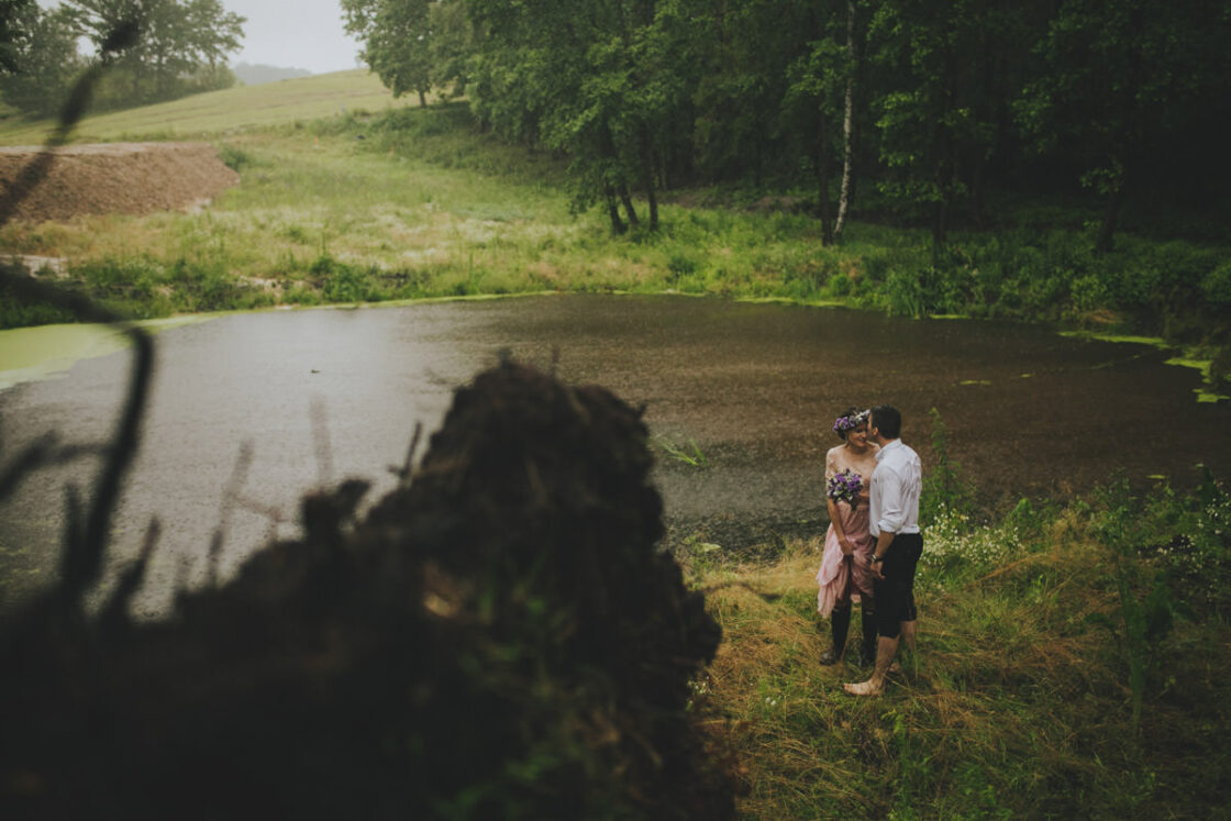 sesja w deszczu