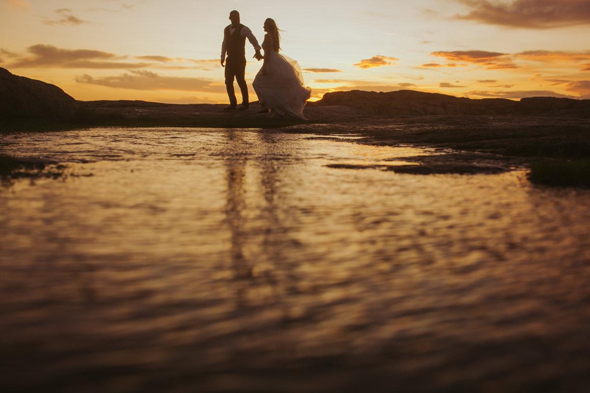 sesja ślubna o zochodzie słońca